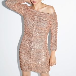 NWT Zara Sequin Night Out Dress